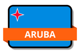 Aruba State Flags Stickers