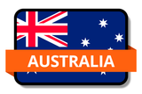 Australia State Flags Stickers