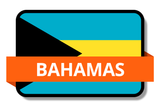 Bahamas State Flags Stickers