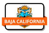 Baja California State Flags Stickers