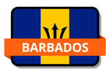 Barbados State Flags Stickers