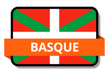Basque State Flags Stickers