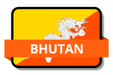 Bhutan State Flags Stickers