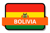 Bolivia State Flags Stickers