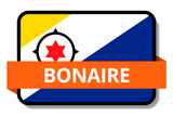 Bonaire State Flags Stickers