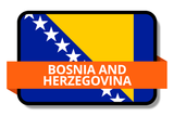 Bosnia and Herzegovina State Flags Stickers