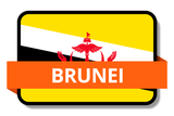 Brunei State Flags Stickers