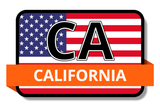 California State Flags Stickers