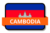 Cambodia State Flags Stickers