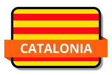Catalonia State Flags Stickers
