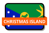 Christmas Island State Flags Stickers