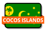 Cocos Islands State Flags Stickers