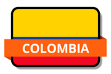 Colombia State Flags Stickers