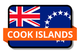 Cook Islands State Flags Stickers