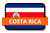 Costa Rica State Flags Stickers