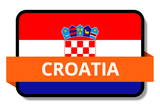 Croatia State Flags Stickers