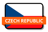 Czech Republic State Flags Stickers