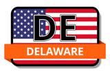 Delaware State Flags Stickers