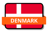 Denmark State Flags Stickers