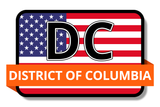 District of Columbia State Flags Stickers
