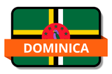 Dominica State Flags Stickers