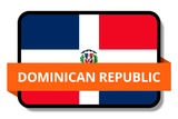 Dominican Republic State Flags Stickers