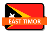 East Timor State Flags Stickers