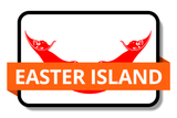 Easter Island State Flags Stickers