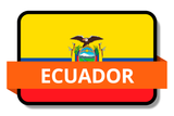 Ecuador State Flags Stickers