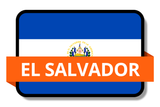 El Salvador State Flags Stickers