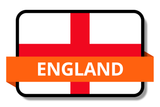 England State Flags Stickers