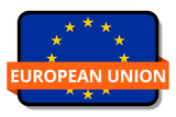 European Union State Flags Stickers