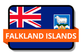 Falkland Islands State Flags Stickers