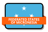 Federated States of Micronesia State Flags Stickers