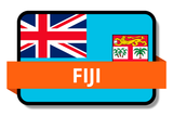 Fiji State Flags Stickers