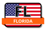Florida State Flags Stickers