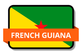 French Guiana State Flags Stickers