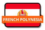 French Polynesia State Flags Stickers