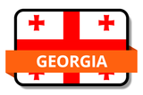 Georgia State Flags Stickers