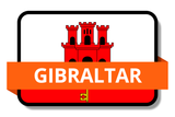 Gibraltar State Flags Stickers
