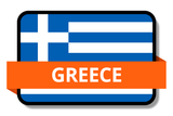 Greece State Flags Stickers
