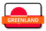 Greenland State Flags Stickers