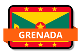 Grenada State Flags Stickers