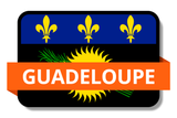 Guadeloupe State Flags Stickers