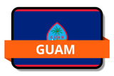 Guam State Flags Stickers