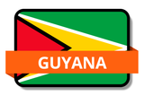 Guyana State Flags Stickers