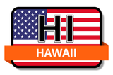 Hawaii State Flags Stickers