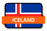 Iceland State Flags Stickers