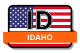 Idaho State Flags Stickers