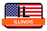 Illinois State Flags Stickers